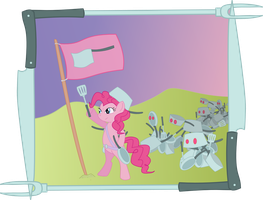 General Pinkie Pot leading her Army by TotallyAnAlicornGuys