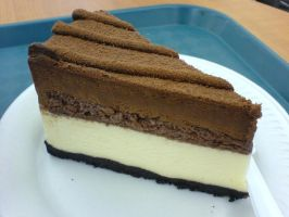 Dark White Brown Chocoz Cake by WaZzUpGaL