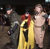Snake, Batgirl, and Eve by ComfortablyEccentric