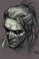 Geralt by TheMinttu