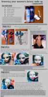 How to remove Monster High factory paint, by eyepins