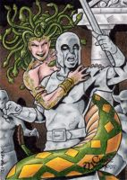 Medusa Sketch Card - Tony Perna by Pernastudios
