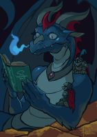 Of books and dragons by Artsed