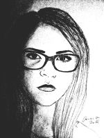 Girl with glasses by Renama