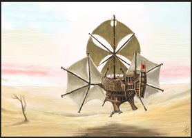 Desert Galleon by Crowsrock