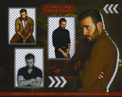 PNG's Pack Chris Evans by shad-designs by shad-designs