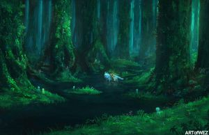The Forest of Princess Mononoke by W-E-Z