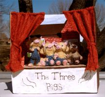 The Three Little Pigs by aleahklay