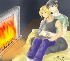 EdxRoy - Fireplace by ChibiEdo