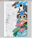 PKMN Print Preview: Mega Starters by BlueIke