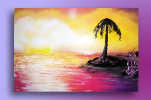 Spray paint Hot Sunset by nousernameavailabl