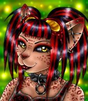 Cyber Goth Kitty by pucksgryn