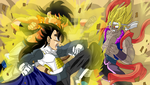 Fusion vs Fusion! Who will win?! by InstinctShadowSaiyan