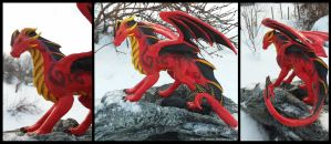 Red dragon sculpture by Shadow77-Demon