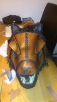 Leather warmask - Werewolf front by Simbaen