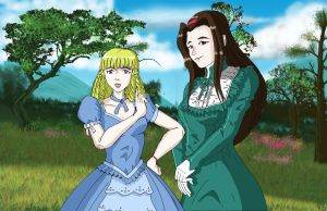 Princesses Elvina And Zoe Amberly by piojote