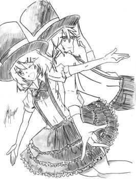 VOCAFUSION: RIN + LEN KAGAMINE SKETCH VERSIONS by SquishyCommishies