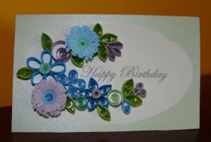 Quilling Birthday Card by rainbow57