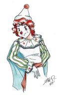 Pierrot character sketch by PrinceRose