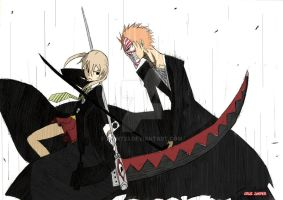 Maka vs Ichigo by point23