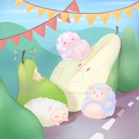 [ illustration ] little sheep whimsy by sleepypandie