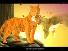 Firestar and Spottedleaf by Mizu-no-Akira