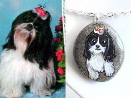 Custom Maltese Dog Pendant Necklace by sobeyondthis