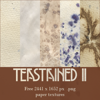 [resource] Teastained 2 - 17 free paper textures by SirMeo