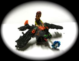 Rainbow Loom Toothless and Hiccup! by ChalkyCanvas