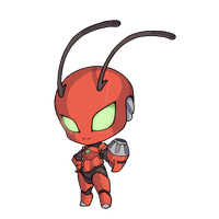 Commission - Red Robot by MorningPanda