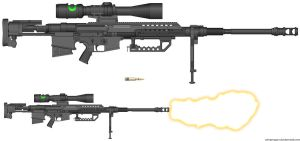 AMH-98 SA Anti Materiel rifle by WMDiscovery93