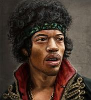 Jimi Hendrix by Afternoon63