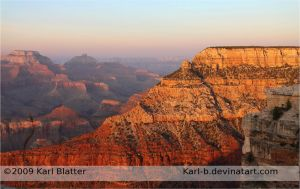 Grand Canyon - Facing Sunset by Karl-B