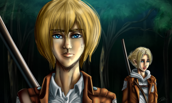 Armin Is NOT Amused (Screenshot Redraw) by Crazyaniknowit
