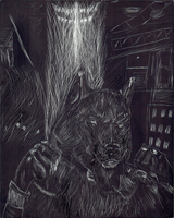 Portrait of a Lycan by axemnas