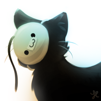 cats don't know how to wear masks. by A-i-R-o