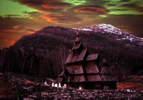 premade 3 wooden church by sometimesnooneknows