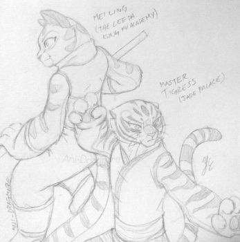 Mei Ling and Master Tigress by AniDragmire