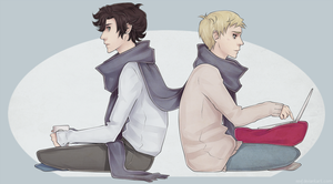 SHERLOCK: sherlock and john by eevf