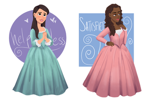 the schuyler sisters by sweetmarshmella