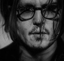 Hyperrealism Johnny Depp by SFleck