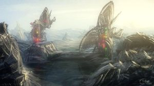 Speedpaint: Abstract scifi by inetgrafx
