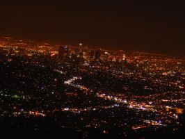 Night-time Los Angeles by AndySerrano