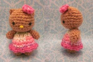 Hawaiian sun-kissed Hello Kitty amigurumi! by Spudsstitches