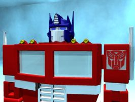 Optimus Prime FrontView by thequestionmark