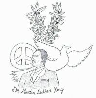 Dr. Martin Luther King by UnidosdaTijuca1