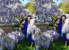 A Cross Eye Viewable Wistereoscopic Pair of Mrs A* by aegiandyad