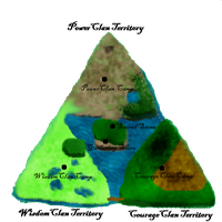 Triforce/Warrior Cats Territory Map by Brookreed