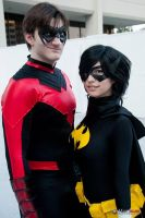 Nightwing and Blackbat by surfingthevoiid