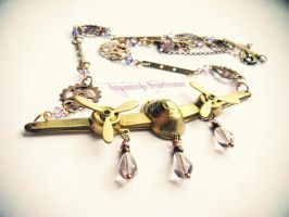 Steampunk airplane necklace by Verope